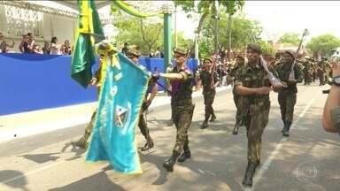 No Acre, o Dia da Independência é comemorado no Centro de Rio Branco - Integrantes do Exército, policiais civis e militares, estudantes e atletas participaram do desfile.