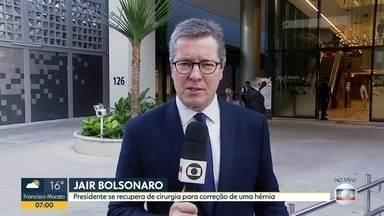 Presidente se recupera de cirurgia em São Paulo - Jair Bolsonaro passou por cirurgia de correção de hérnia no final de semana