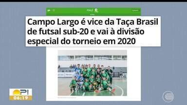 Campo Largo é vice da Taça Brasil de futsal sub-20 e vai para divisão especial - Campo Largo é vice da Taça Brasil de futsal sub-20 e vai para divisão especial