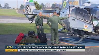 Bombeiros do Paraná viam pra Amazônia - Eles vão ajudar no trabalho de combate aos incêndios