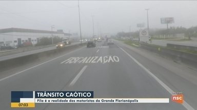 Quadro 'Você no BDSC': Fila é realidade dos motoristas da Grande Florianópolis - Quadro 'Você no BDSC': Fila é realidade dos motoristas da Grande Florianópolis