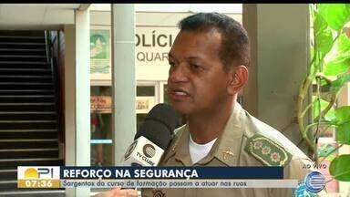 480 policiais militares em treinamento dão apoio à segurança de Teresina - 480 policiais militares em treinamento dão apoio à segurança de Teresina