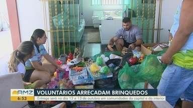Grupo de voluntários arrecadam brinquedos para doações - Entregas serão feitas nos dias 12 e 13 de outubro em comunidades da capital e do interior.
