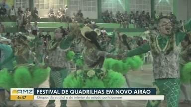 Grupos participam de Festival de Quadrilhas em Novo Airão, no AM - Alguns participantes viajaram por cerca de 12 horas para participar do evento.