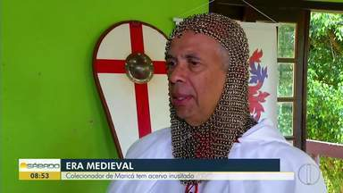 Colecionador de Maricá tem acervo inusitado - Era medieval.
