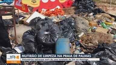 Mutirão retira toneladas de lixo em Governador Celso Ramos - Mutirão retira toneladas de lixo em Governador Celso Ramos