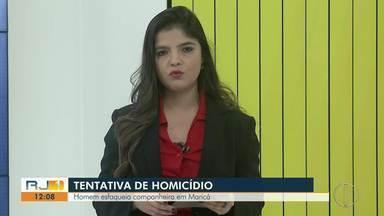 Mulher é esfaqueada em Maricá, RJ, e companheiro é suspeito - Caso aconteceu na noite deste domingo (8) no distrito de Itaipuaçu. Suspeito fugiu do local.