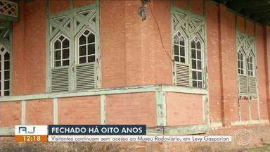 Museu Rodoviário de Levy Gasparian continua fechado depois de oito anos - Peças históricas estão em risco no único museu rodoviário da América Latina.