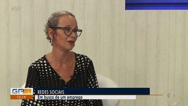 Consultora fala sobre as redes sociais na busca por um emprego - Confira no quadro 'Mercado de Trabalho'.