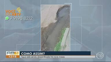 Você no ABTV: Moradores reclamam de vazamento de água em Ibimirim - Segundo moradores, a água está sendo desperdiçada há nove meses.