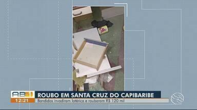 Bandidos invadem lotérica e roubam R$ 120 mil em Santa Cruz do Capibaribe - Valor levado pelos criminosos foi informado pelo proprietário da casa lotérica.