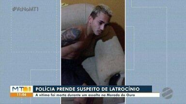 Polícia prende suspeito de latrocínio na Morada do Ouro - Polícia prende suspeito de latrocínio na Morada do Ouro.