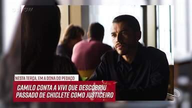 Resumo do dia - 10/09 – Camilo conta a Vivi que descobriu o passado de Chiclete - Confira!