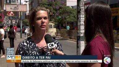 Inscrições para o mutirão 'Direito a ter Pai' é realizado em Barbacena - Outros 53 municípios da região vão receber a ação.