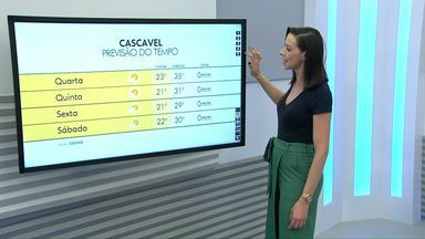 Estiagem e calor continuam no oeste do estado - Por enquanto não tem previsão de chuva para os próximos dias para o Paraná.