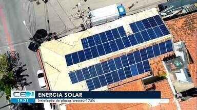 Instalação de placas de energia solar cresceu 175% - Confira mais notícias em g1.globo.com/ce