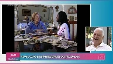Fagundes se diverte com os comentários da mãe - Em entrevista de 2001, mãe de Antonio Fagundes conta curiosidades do filho