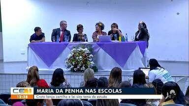 Cartilha sobre lei Maria da Penha é lançada no Crato - Saiba mais em g1.com.br/ce