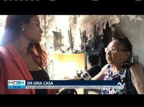 Incêndio atinge parte de uma casa em Governador Valadares - Cozinha ficou destruída, mas ninguém ficou ferido. Corpo de Bombeiros controlou as chamas.