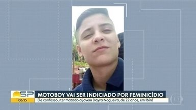 Motoboy vai ser indiciado por feminicídio em Ibirá - Ele confessou que matou Dayra Nogueira, de 22 anos