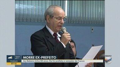 Morre aos 88 anos Ary Balieiro, ex-prefeito de Franca, SP - Ele tinha mal de Alzheimer. Arquiteto teve falência múltipla dos órgãos após piora nas últimas três semanas.