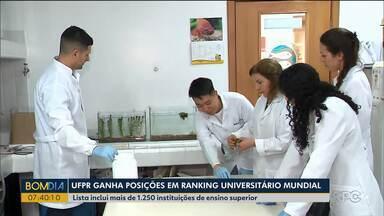 UFPR ganha posições em ranking universitário mundial - Lista inclui mais de 1.250 instituições de ensino superior.