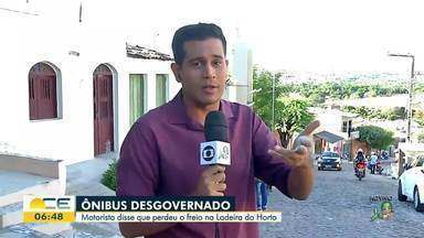Ônibus desgovernado desce a ladeira do Horto em Juazeiro do Norte - Saiba mais em g1.com.br/ce