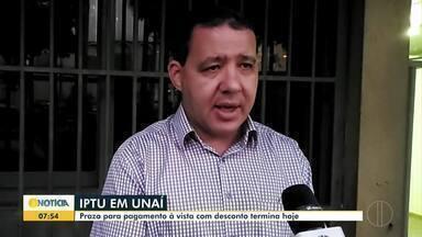 Prazo para pagamento do IPTU com desconto termina nesta quinta (12) em Unaí - De acordo com a Secretaria Municipal de Fazenda, não houve aumento dos impostos neste ano.