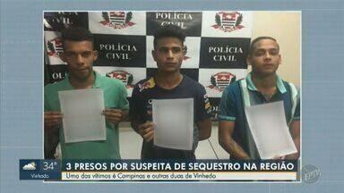 Polícia prende três homens suspeitos de sequestro-relâmpago em Campinas - Os criminosos renderam e sequestraram três pessoas na última sexta-feira (6), mas foram presos nesta quinta-feira (11).