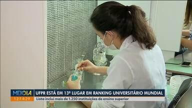 UFPR está em 13º lugar entre universidades brasileiras em ranking mundial - As pesquisas desenvolvidas ajudaram a melhorar o desempenho da universidade.