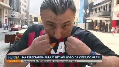 Torcedores do Athletico estão confiantes no Furacão para a final da Copa do Brasil - Time de Curitiba venceu o Internacional por 1 a 0 na Arena da Baixada.