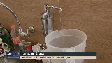 Dois bairros de São Carlos estão há dias sem água - O problema acontece na Vila Prado e no Antenor Garcia.