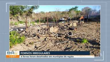 Seis fornos irregulares de carvão são desativados em em municípios do interior do estado - Os equipamentos estavam instalados em áreas de preservação ambiental e os funcionários trabalhavam em condição análoga à escravidão.