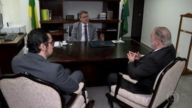 Independência do MP é tema da conversa entre senador e novo PGR - Segundo Augusto Aras, ele teria alertado Bolsonaro de que o presidente não pode mandar ou desmandar no Ministério Público.
