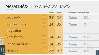 Veja as variações das temperaturas no Maranhão - Confira a previsão do tempo nesta sexta-feira (13) em São Luís e também no interior do estado.