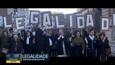Filmes nacionais em destaque nas estreias do cinema nesta semana. - Legalidade mostra o Brasil na época da renúncia de Janio Quadros.