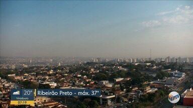 Confira a previsão do tempo para esta sexta-feira (13) em Ribeirão Preto - Temperatura chega a 37°C.