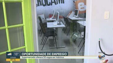 Supermercado de Valinhos oferece 50 oportunidades de emprego - A seleção é a partir das 9h desta sexta-feira (13). Os interessados devem ir até a Escola de Educação Profissional da Rua Milani e levar seu currículo.