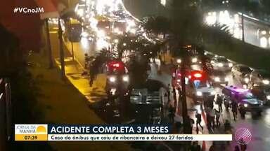 Acidente com ônibus que despencou de ribanceira no Acesso Norte completa três meses - Veja as atualizações deste caso e outras notícias com Juliana Cavalcante.