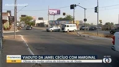 Começam obras para a construção de viaduto na Avenida Jamel Cecílio, em Goiânia - Complexo viário será construído no cruzamento com a Marginal Botafogo.