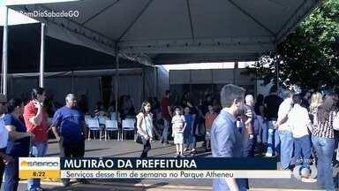 Parque Atheneu recebe Mutirão da Prefeitura de Goiânia - Ação conta com serviços de graça.