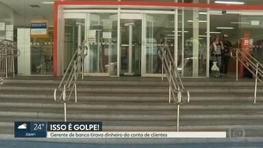 Polícia investiga golpe aplicado por gerente de banco - A mulher aproveitava a boa relação com os clientes para roubar dinheiro das contas deles.