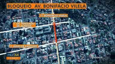 AMTT bloqueia trecho da Avenida Bonifácio Vilela durante todo este fim de semana - O bloqueio é por conta da revitalização da Av. München, o trânsito está impedido entre as ruas Penteado de Almeira e Júlio de Castilho.