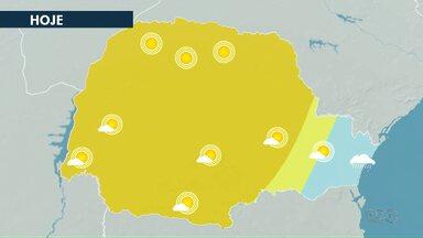 Sábado (14) segue ensolarado pelos Campos Gerais - A máxima em Ponta Grossa alcança 28°C.