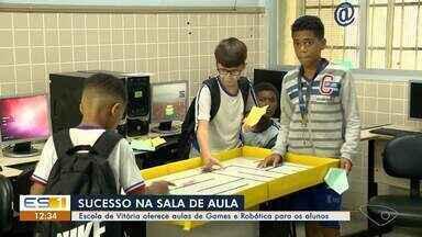 Escola de Vitória oferece aulas de Games e Robótica para os alunos - Prática está fazendo o maior sucesso entre os alunos.