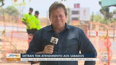 Detran-AM tem atendimentos aos sábados no mês de setembro, em Manaus - Atendimentos são feitos na sede do órgão.