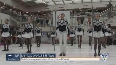 Centenas de bailarinos do país participam do Santos Dance Festival - Competições acontecem em vários palcos instalados na cidade.