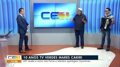 CETV 1 recebe o cantor Jota Farias e relembra reportagens importantes - Saiba mais em g1.com.br/ce