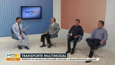Inter TV realiza debate sobre o transporte multimodal em Montes Claros - A melhoria na estrutura viária pode estimular o desenvolvimento regional, de acordo com o Ministro do Desenvolvimento Econômico, Gustavo Henrique Canuto.