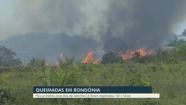 Aumento de queimadas em Rondônia preocupa autoridades - Mais de 1600 focos de incêndio foram registrados nos primeiros onze dias de setembro.
